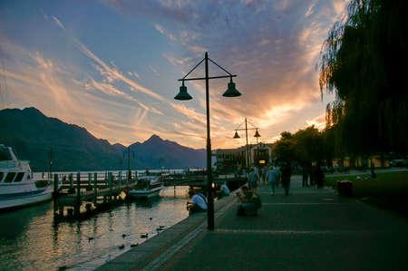The sunset in Queenstown, New Zealand