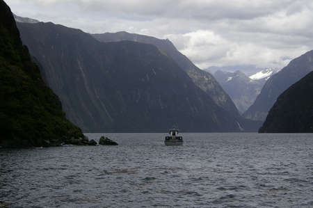 Scenery in Milford Sound, New zealand