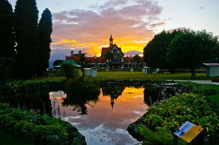 Sunrise at Rotorua Museum, New zealand