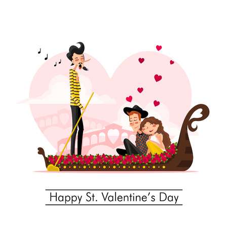 cartoon kiss: Happy St. Valentine Day