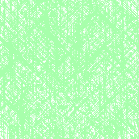A Vector square abstract background of ragged, sloppy lines. Imitation of the old canvas, woven cloth. The background is green and white.