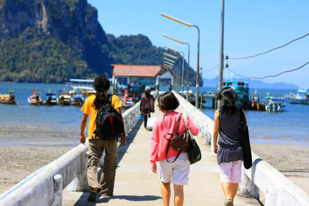 Going out to the sea and islands on holiday, Trang, Thailand Stock Photo
