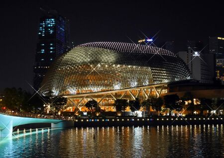 Esplanade Theatre a.k.a Durian building, Singapore at night