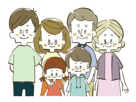 Three generations family-smile Stock Photo