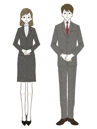 Men and women in suits