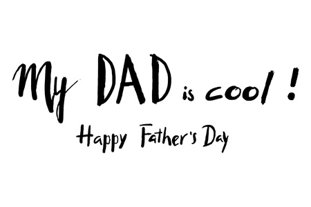 Happy Father's day hand lettering greeting card, can be used for poster, banner, logo, icon.