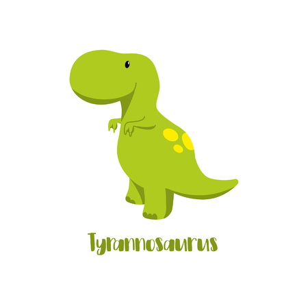 Dinosaur icons in flat style for designing dino party, children holiday, dinosaurus related materials. For card, poster, banner, logo, icon. Jurassic park theme. 向量圖像