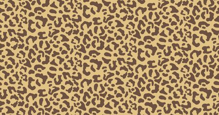 Leopard or jaguar print seamless pattern, textured fashion print, abstract safari background for fabric, textile. Effect of big tropical wild cat fur, spots stylized. Wild cat animal print, safari art Ilustração