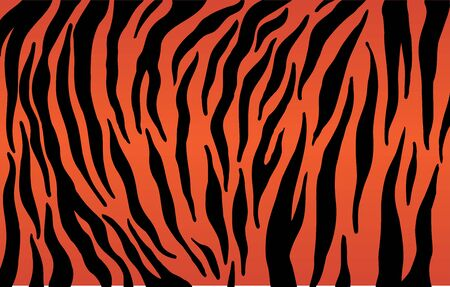 Tiger stripes pattern, animal skin texture, abstract ornament for clothing, fashion safari wallpaper, textile, natural hand drawn ink illustration, black and orange camouflage, tropical cat. Ilustração