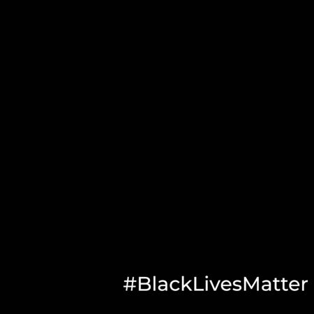 Black Lives Matter poster to stop racism, to support society protest demonstration againg police lawlessness, violence, hate for social media, post, banner. Hashtag on blank black background