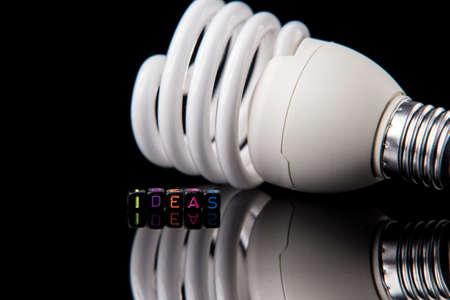 Led light bulb on dark isolated background 免版税图像