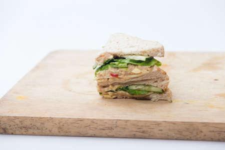 sandwich on cutting board 免版税图像