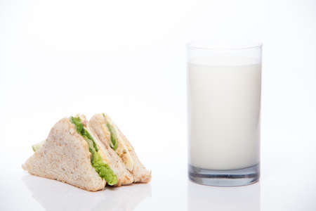 toasted: sandwich and milk