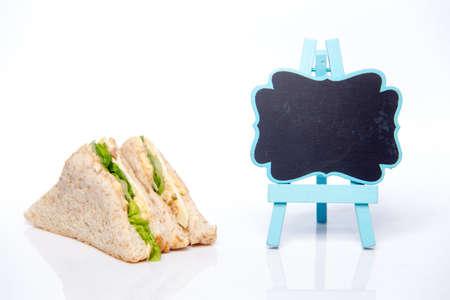 sandwich and blackboard 免版税图像