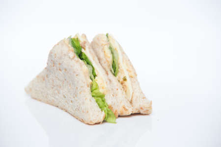 Sandwich on white isolated background