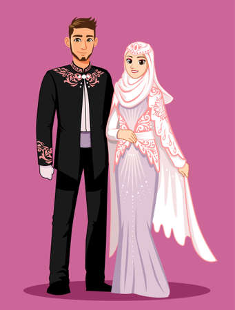 Pink Purple Muslim Wedding