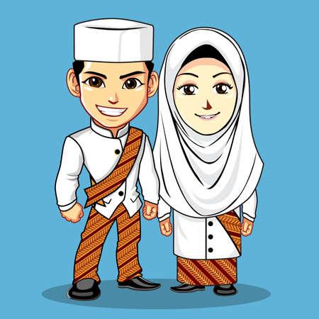 Batik Muslim Wedding dress