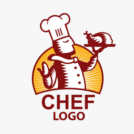 Chef Logo with Fried Chicken