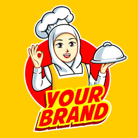 Female Chef in action logo