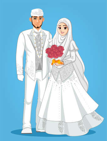 White Muslim Wedding Couple