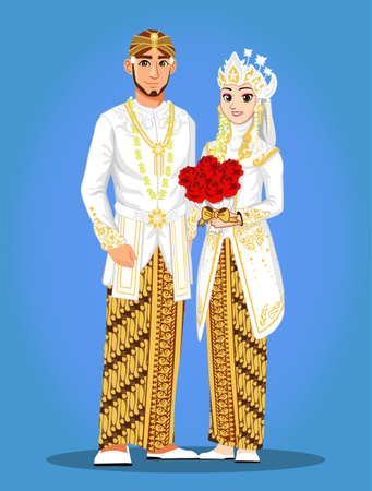 Sunda Muslim Wedding Couple Banque d'images - 127331777
