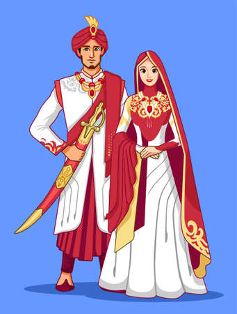 Pakistani brides with Maroon traditional dress.