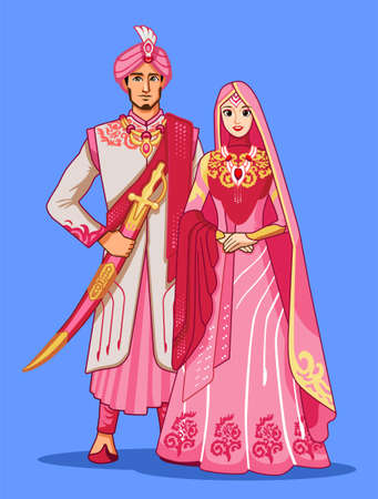 Pakistani brides with pink traditional dress. Banque d'images - 130844165