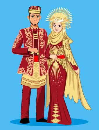 Minangkabau brides with traditional dress.