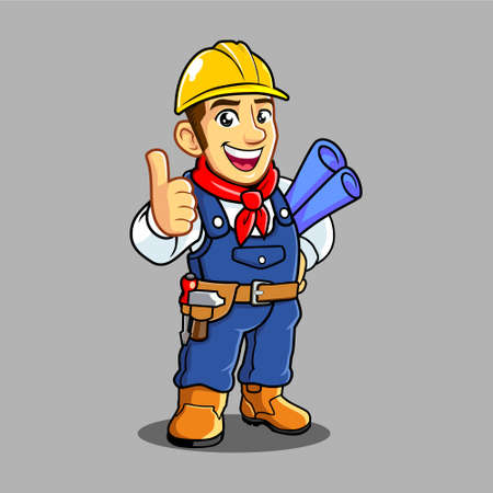 Civil Engineer Mascot. It is good for your business Banque d'images - 130844170