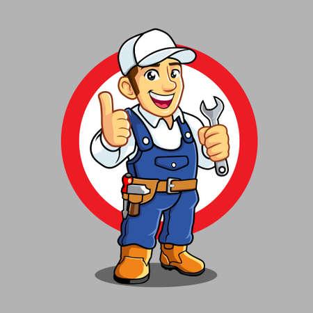 Mechanic mascot for business