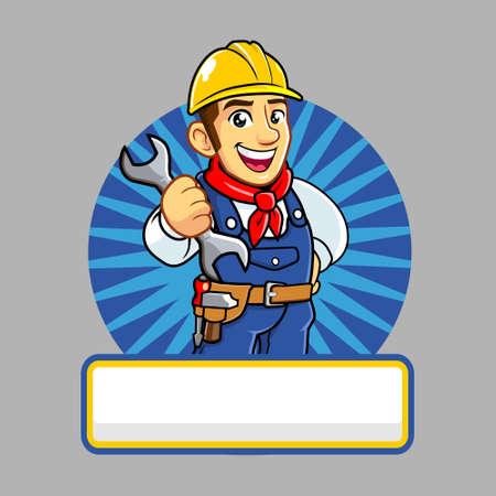 Repairman mascot for business Banque d'images - 130844172