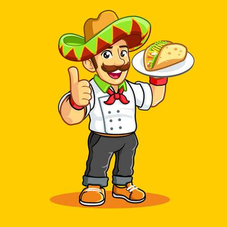 Taco man headkerchief Sombrero mustache