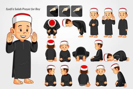 Salah prayer for boys with shafie mazhab.