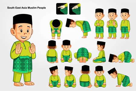 Salah prayer for south east asia muslim people.