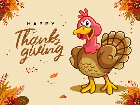 thanksgiving country mascot cartoon Vectores