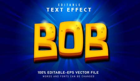BOB TEXT EFFECT AND EDITABLE  FONT Vectores