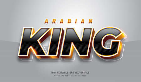 Arabian King text effect and editable font