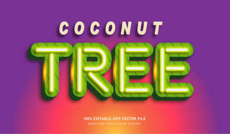 Coconut Tree text effect and editable font