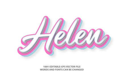 Helen Name text effect and editable font