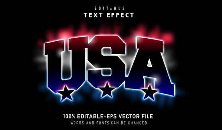 USA Text effect and editable font Vectores