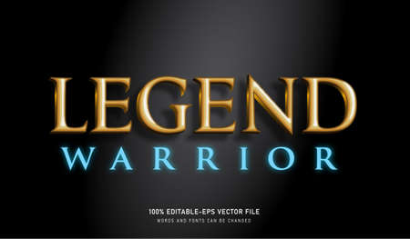 Legend Warrior text effect and editable font
