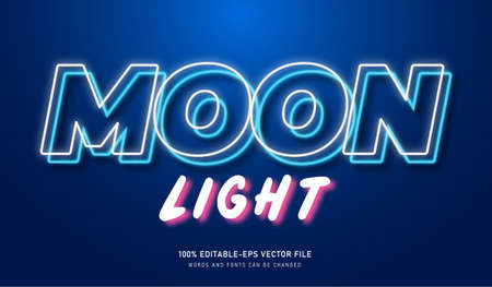 Moon Light text effect and editable font