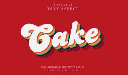 Rainbow cake text effect and editable font