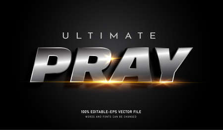Ultimate Pray platinum text effect