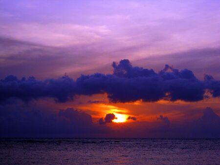 lombok: Sunset at Senggigi, Lombok Stock Photo