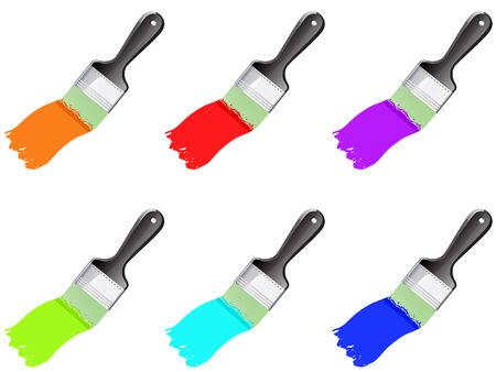 colour brushes set