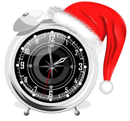 New Year alarm clock Illustration