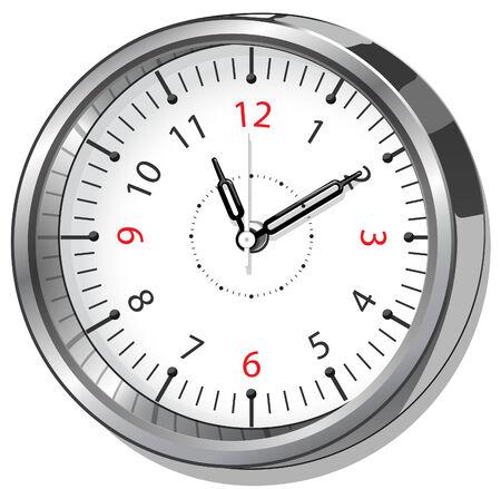 Vector illustration of the office clock Illustration