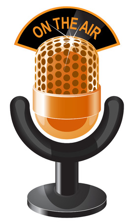 Golden microphone icon