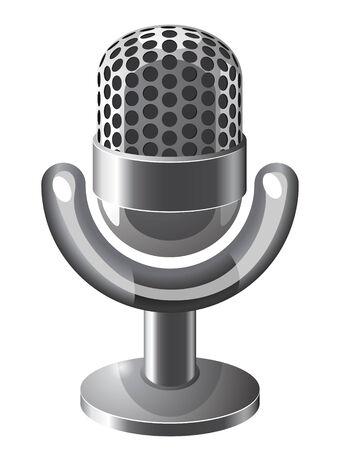 icone: Retro steel microphone icone Illustration
